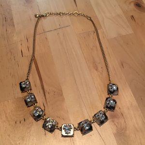 J Crew Square Crystal/tortoise Necklace